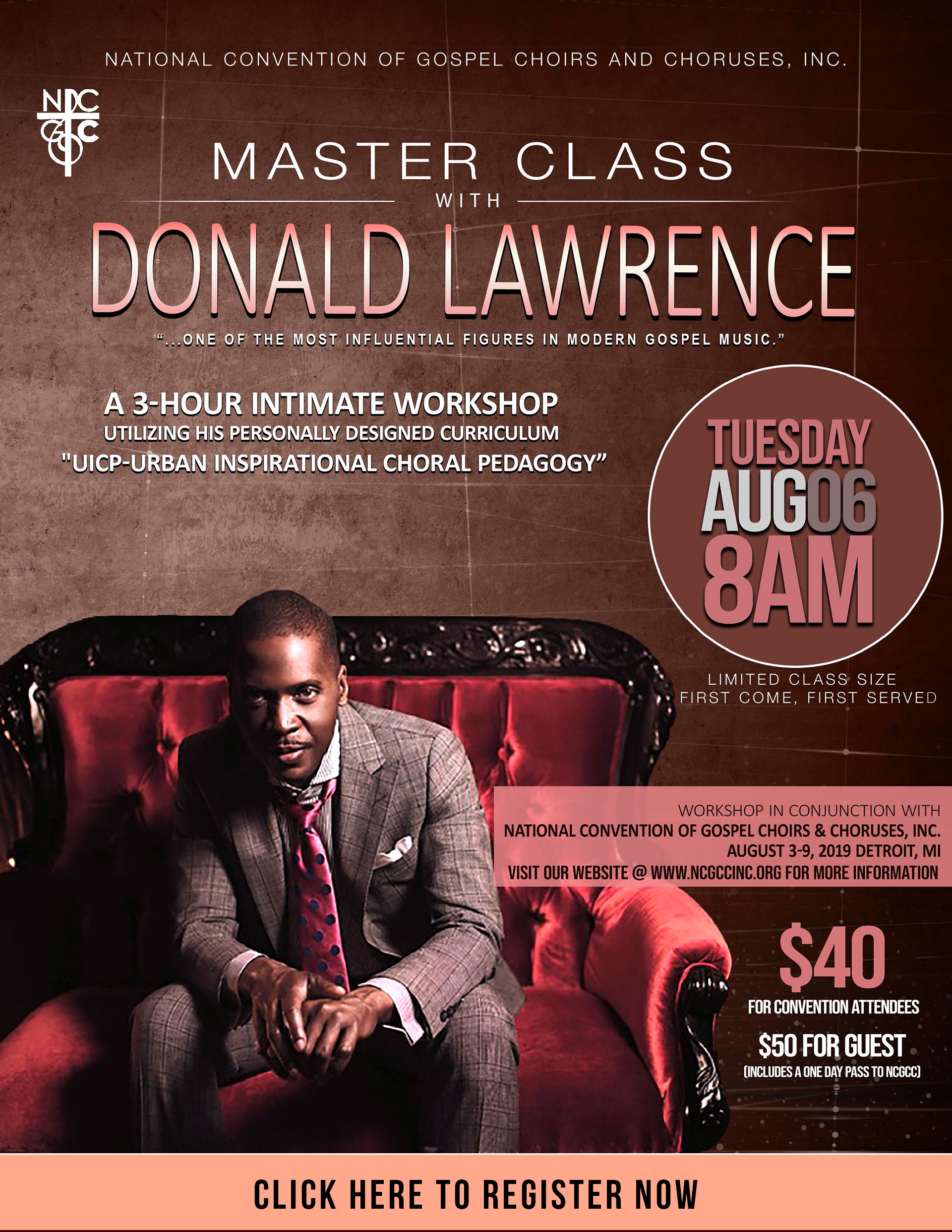 NCGCC Master Class with Donald Lawrence